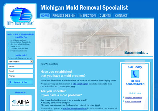 Michigan Mold Specialists website