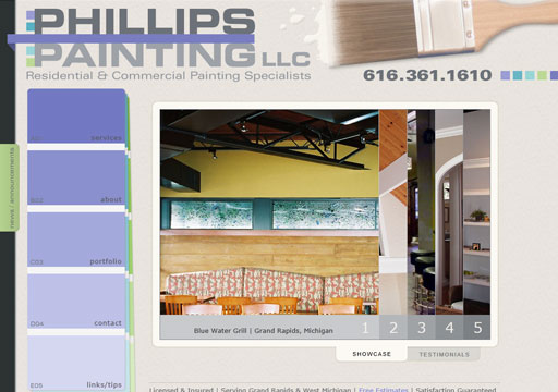 Phillips Painting LLC website