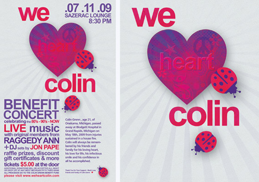 We Heart Colin Benefit poster